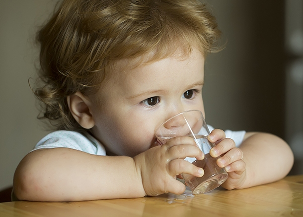 Dehydration in child